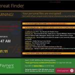 ransomware crypto exemplo 4 - threat finder