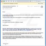 E-mail fraudulento a distribuir um documento fraudulento do Microsoft Office (exemplo 3)