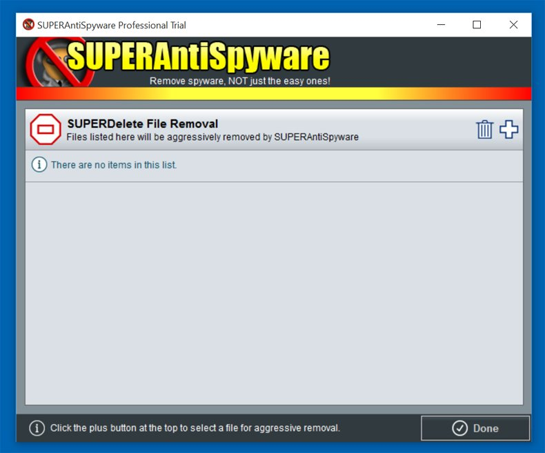 superantispyware file removal