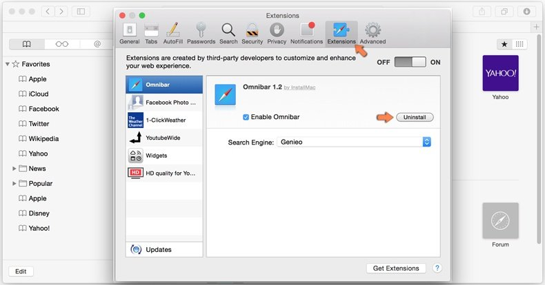 Como remover browser hijacker do Safari - 2