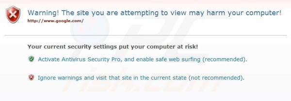 Antivirus Security Pro blocking Internet access