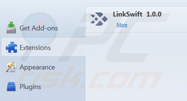 Remover LinkSwift do Mozilla FireFox