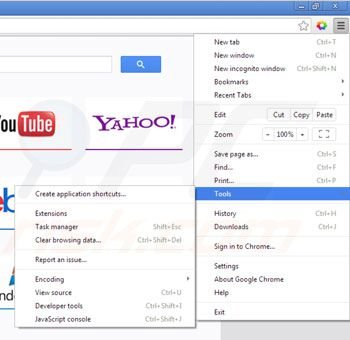 Remova Linkey do Google Chrome passo 1