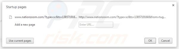 Remover o vírus Nationzoom.com da página inicial do Google Chrome