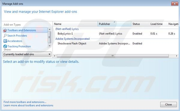 Remover Nav Links do Internet Explorer