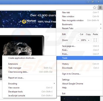 Remover Websteroids do Google Chrome passo 1