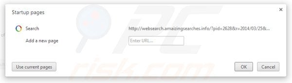 Remover websearch.amaizingsearches.info da página inicial do Google Chrome