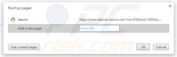 Remova default-search.net da página inicial do Google Chrome
