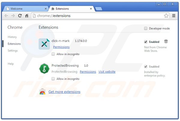 Remova HQ-Quality do Google Chrome passo 2