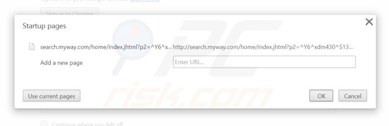 Removendo a página inicial search.myway.com from do Google Chrome