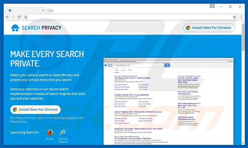 Website a promover searchprivacy.co
