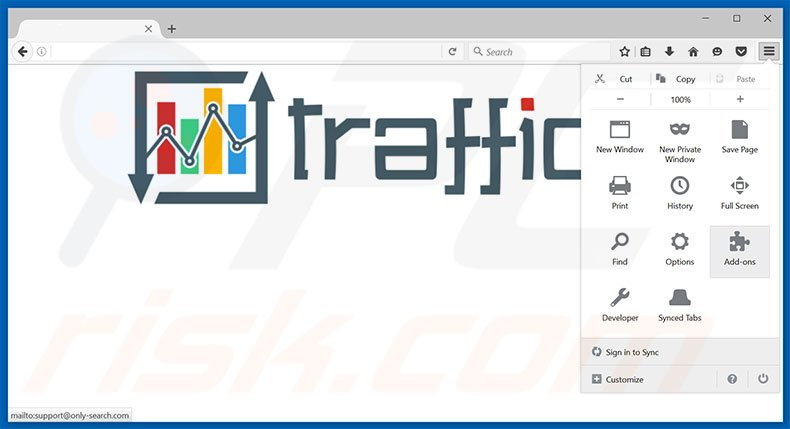 Removendo os anúncios Traffic Exchange do Mozilla Firefox passo 1