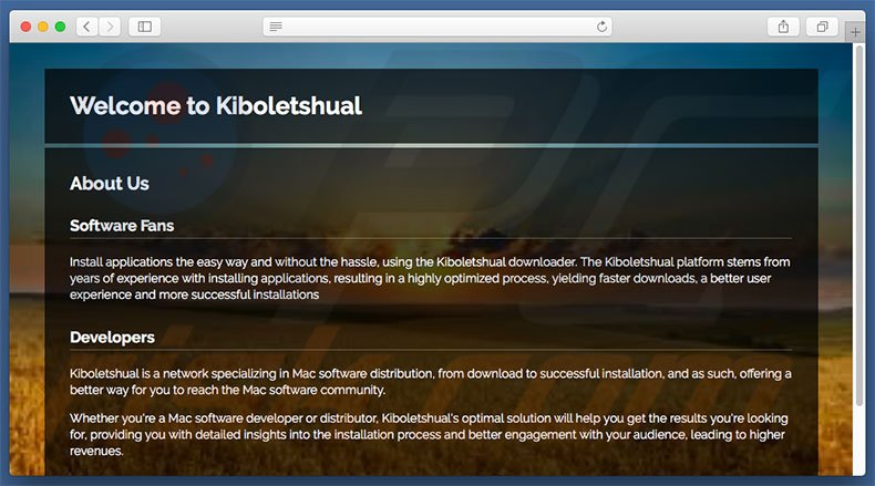 Website fraudulento usado para promover search.kiboletshual.com