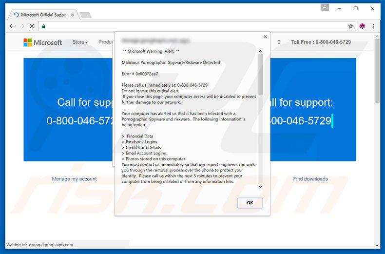 Microsoft Trojaner Warnung