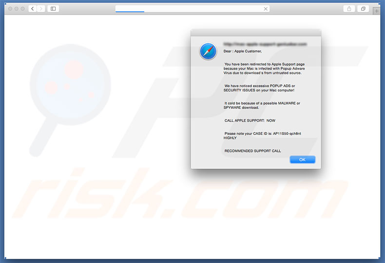 Fraude do Vírus Your Mac Is Infected With Popup Adware Virus from Mac