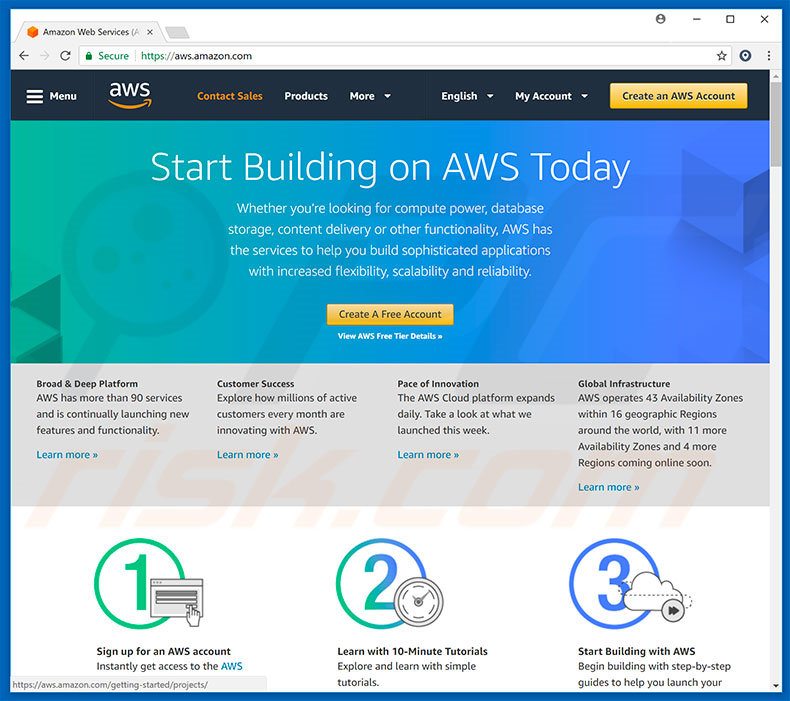 Redirecionamentos de Amazon AWS