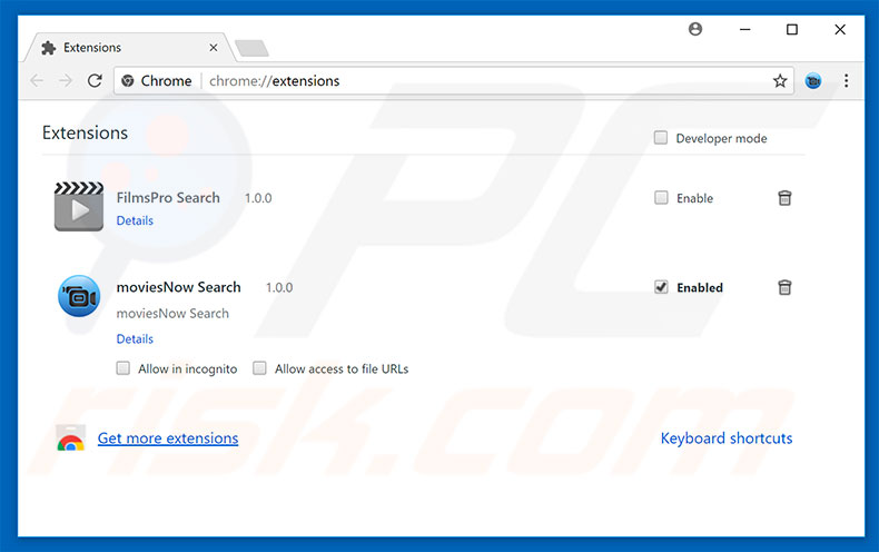Removendo as extensões relacionadas a chromesearch.online do Google Chrome