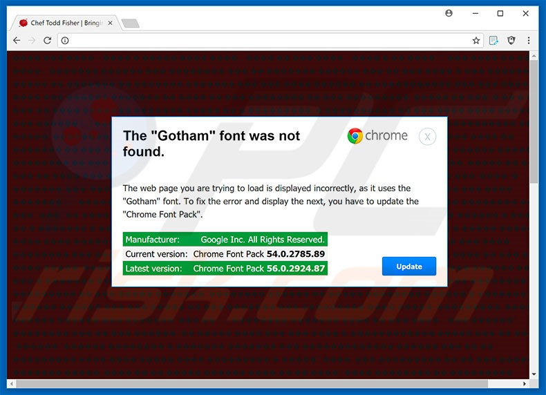 The Gotham Font Was Not Found Google Chrome Passo 1
