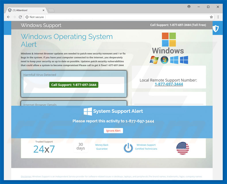 Fraude Windows Operating System Alert