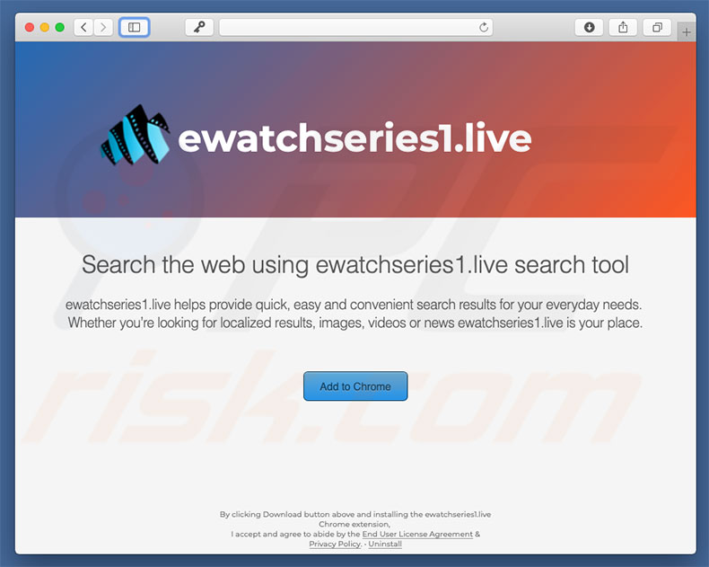 Website fraudulento a promover search.ewatchseries.live