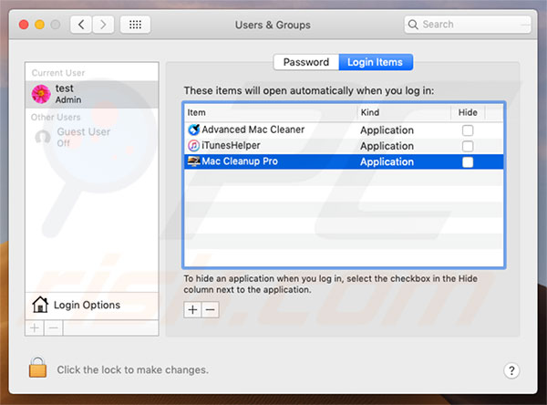 Mac Cleanup Pro PUA system preferences