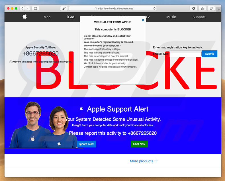 Fraude VIRUS ALERT FROM APPLE