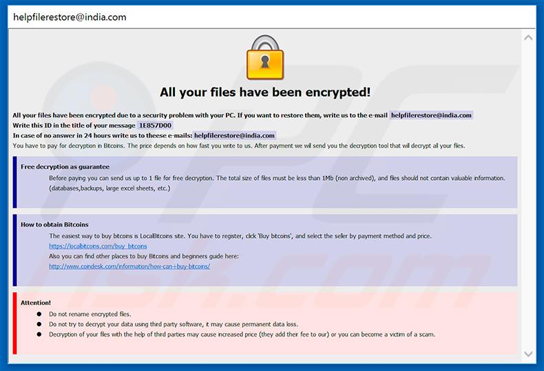 Como remover Ransomware ETH - passos para a remoção do vírus