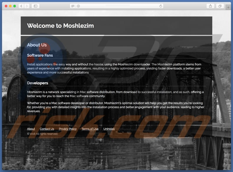 Website fraudulento usado para promover search.moshlezim.com