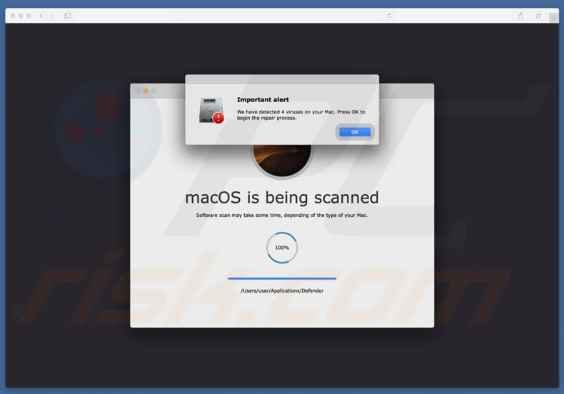 Fraude Your Mac is infected with 4 viruses
