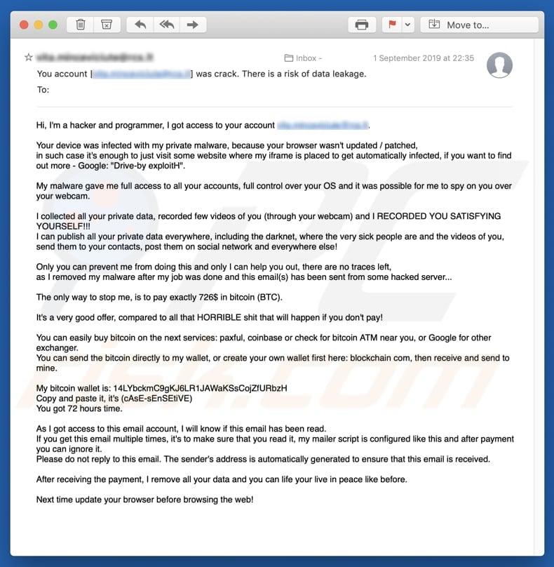 bitcoin mail