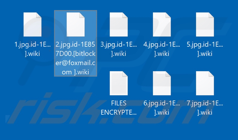 Files encrypted by Wiki